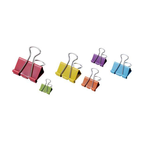 Assorted Color Binder Clips-